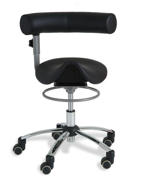 Sattelsitzstuhl Gesundheitsstuhl Kunstleder, Lehne und Sitz höhenverstellbar, Rückenlehne im Sitzen