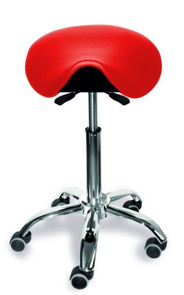 Sattelsitzstuhl Sitz vor- und rückneigbar, höhenverstellbar