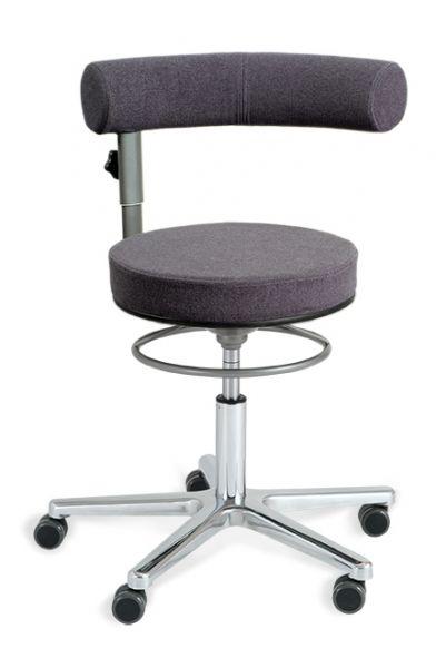 Sanus Gesundheitstuhl Filz grau, Sitz und Lehne höhenverstellbar, Lehne im Sitzen 360° schwenkbar