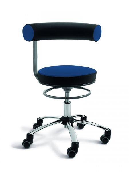 Gesundheitsstuhl Stoff, Sitz höhenverstellbar, Rückenlehne nicht höhenverstellbar, 360° schwenkbar
