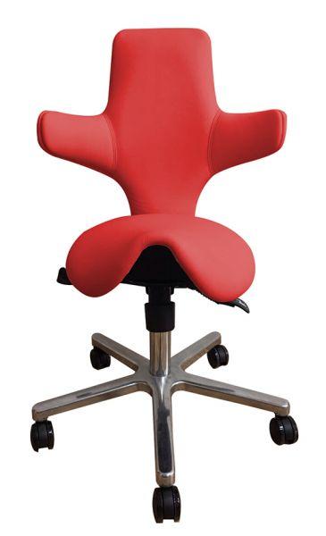 Sattelsitzstuhl Gesundheitsstuhl Variowip Leder, Rückenlehne neigbar