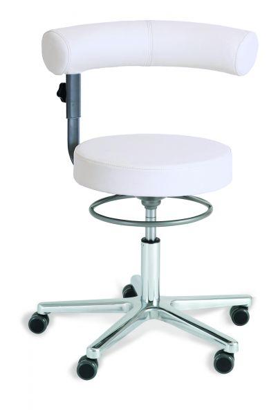 Sanus Gesundheitstuhl Kunstleder, Lehne und Sitz höhenverstellbar, Lehne im Sitzen 360° schwenkbar