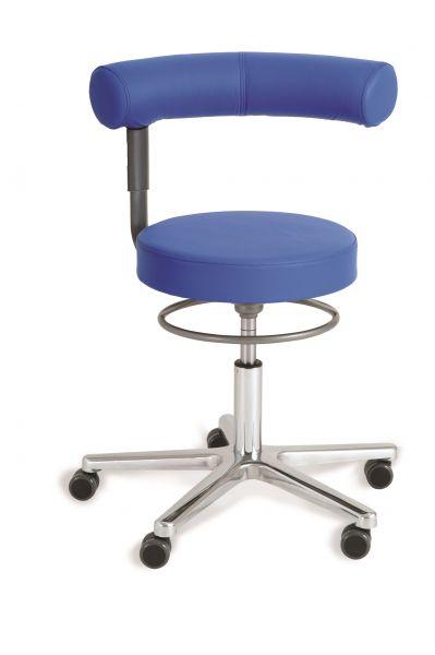 Gesundheitsstuhl Kunstleder, Sitz höhenverstellbar, Rückenlehne nicht höhenverstellbar, schwenkbar