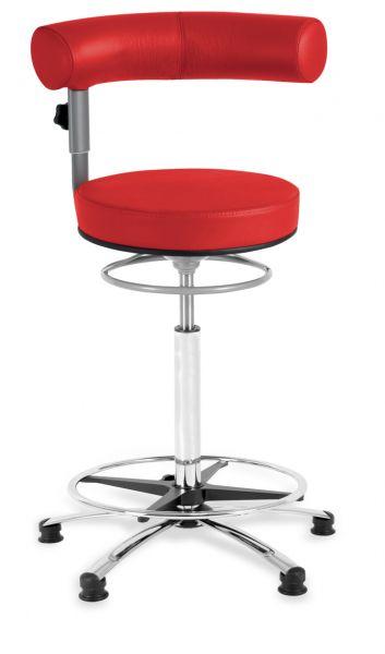 Thekenstuhl Sanus, Lehne und Sitz höhenverstellbar, Lehne im Sitzen schwenkbar, 63 - 89 cm, Gleiter