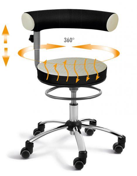 Gesundheitsstuhl-Pilates Sitz und Rückenlehne verstellbar, Lehne im Sitzen 360° schwenkbar